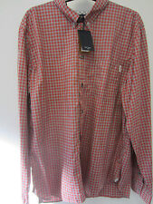 """Paul Smith Check Shirt MOTHER of PEARL Buttoning Size M Pit to Pit 22"""""""