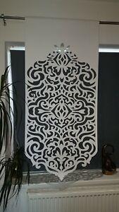 White felt panel laser cut small window decoration firany modern design