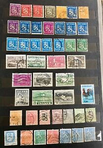 43 Finland And 3 Iceland Postage Stamps Franked Geography History Collectable
