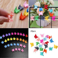 20PCS Girls Mini Hair Claws Multi-colors Hair Clips Butterfly Shape Hair Clamps