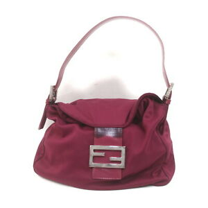 Fendi Hand Bag Mamma Hand Bag Rose Nylon 2204886
