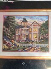 Janlynn Victorian House Needlepoint Kit  1995  sealed