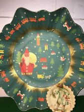 Vintage Christmas Cardboard Bowls For Cookie And Pretzels Made In Germany