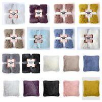 Cuddly Hug & Snug Throws Blankets Super Soft Warm Fleece Throws Or Cushion Cover