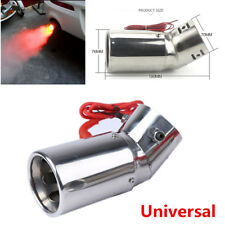 Auto Car LED Exhaust Pipe Spitfire Red Light Spray Flaming Muffler Tip Universal