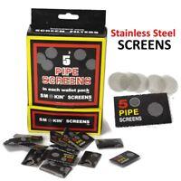 5-100 x Stainless Steel Pipe Screens 15mm Tobacco Gauzes Bowl Mesh Filter Smoke