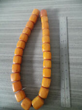 25 P ETHIOPIAN AFRICAN COPAL AMBER RESIN AFRICA TRADE BEADS STRAND NECKLACE 440G