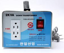 Home Converter HANIL Step Down Voltage Transformer From 220V To 110V 2000W Korea