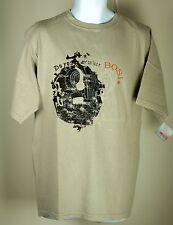 Men's Bosi Colombia Beige Tan Obelisk Do You Remember Couture T Shirt XL