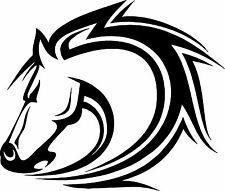 "HORSE TRAILER TRUCK EQUESTRIAN FARM TRACTOR DECAL GRAPHIC BLACK DIE CUT 22""X22"""