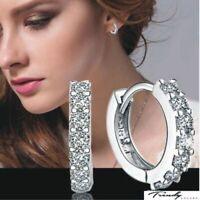 Femme Bijou en strass Cristal 925 argent Sterling boucles d'oreilles hook