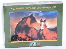 "NEW SEALED Sure-Lox ""Wild and Free, Tenderness"" 750 Piece Puzzle Horses Foal"