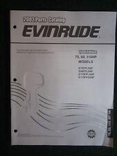 2002 Evinrude Outboard Parts Catalog Manual 75 90 115 HP 60 V4 E75FPLSNF  ++