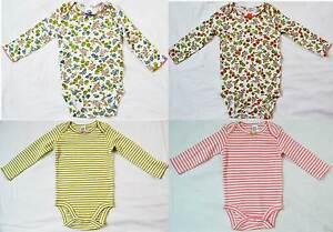 Mini Boden vest baby soft cotton body bodies bodysuit flower stripe new girls