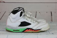 Nike Air Jordan 5 V Retro Sz 7Y GS Pro Star Poison Green White 440888-115