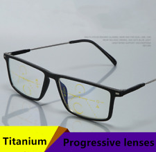 Memory Titanium Anti-Blu-ray Smart Zoom Progressive Multi-focus Reading Glasses