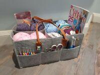 Craft organiser Bag Storage of Crochet, Knitting,Hobby,Easter,Mothers Day gift