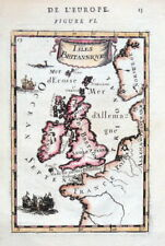 BRITISH ISLES, Isles Britanniques, Britain, Mallet Original Antique Map 1683