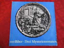 "10"" LP BIBER Drei Myteriensonaten ULRICH GREHLIN JOHANNES KOCH RUDOLF EWERHARDT"