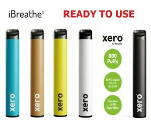 Authentic iBREATHE XERO Disposable Pods   All Flavours   CHEAPEST 600 Puffs