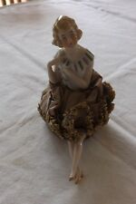 (82) SUPERB BISQUE GERMAN ANTIQUE PIN CUSHION HALF DOLL 15cm