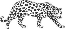 "Leopard Panther Cougar Cat Animal Vinyl Wall Decal [CK42] 22""x7"""