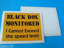 BLACK BOX MONITORED Inside Car Window Insurance Warning Sticker Decal 100mm