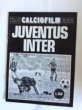 PROGRAMMA CALCIO JUVENTUS- INTER F.C.  6/1/1974 CAMPIONATO 1973/74 CALCIOFILM