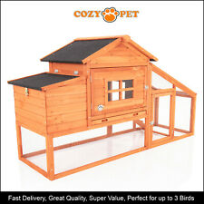 Chicken Coop Cozy Pet Deluxe Hen House Poultry Ark Rabbit Hutch Run Coup CC11N