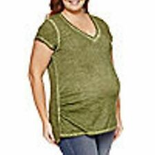 NEW!  a.n.a. ~ MATERNITY PLUS SIZE 2X ~  V-NECK T SHIRT TOP ~ $30 NWT