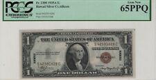 1935 A $1 Silver Certificate Hawaii Overprint FR.2300 PCGS C GEM NEW 65 PPQ