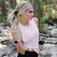 Headwear Cotton Headwrap Yoga Headband Women's Tie Sports Hair Wrap Dye U0S3