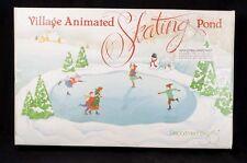 Dept 56 Village Animated Skating Pond Christmas Winter Display 52299 SEE VIDEO