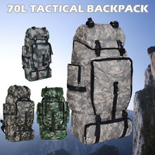 70L Outdoor Camping Hiking Backpack Army Military Tactical Rucksack Bag Trekking