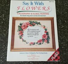 Say It With Flowers Calligraphy & Floral Painting Decorative Painting Plaid