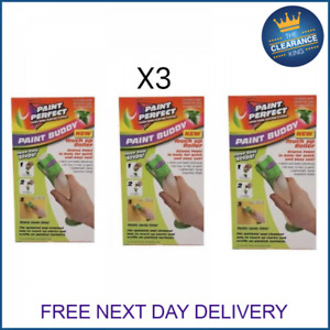 3x PAINT PERFECT BUDDY TOUCH UP ROLLER DECORATING EASY MARKS SCUFFS PAINTED NEW