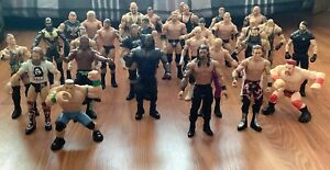 BUNDLE OF 31  WWE AND WWF MATTEL WRESTLING FIGURES 2011, 2012 AND 2013