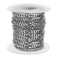 10 Yards Stainless Steel Curb Chain Link Necklace Bracelets Making DIY Bulk