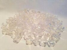 "Lot of 150 Clear Translucent Plastic Small Barrel Macrame Craft Beads 12mm 1/2"""
