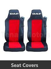 2 x DAF XF 105 105 CF LF Coprisedili Su misura HGV Camion Furgone Nero / Rosso