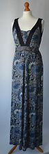 Ladies Monsoon Farida Blue Beaded Jersey Maxi Dress Size UK 18 NWT RRP £79.00