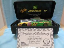 Racing Champions NASCAR JOHN DEER #97 Chad Little Authentic Stock Car Bank 1/24