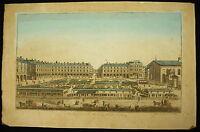 Vista Perspective Del Mercato Alle Fiori Londra XVIII A Daumont Rilievo Firmata