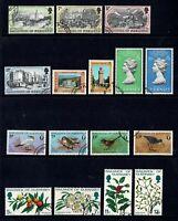 BAILWICK OF GUERNSEY 1978 YEAR SET VERY FINE USED VFU CORONATION BIRDS FLOWERS
