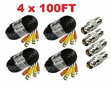 Premium Quality 4x100ft Video Power BNC Cable for Lorex CCTV Security Camera