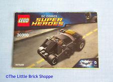 Lego DC Super Heroes 30300 The Batman Tumbler - INSTRUCTION BOOK ONLY - No Lego