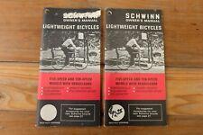 2 Original 1972 Schwinn Owners Manual Lightweight Bicycles, Continental, Varsity