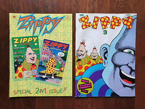 Zippy Comics issues 1, 2, (special 2-in-1 edition) and 3 | Bill Griffiths