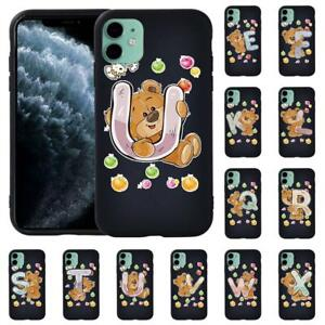 initial Letter Soft Phone Cove Case For Apple iphone 12/12 mini/12 Pro/ Pro Max