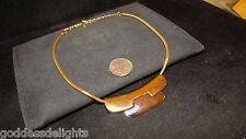 Lavish signed LANVIN PARIS Gold & Silver tone Abstract Vintage Couture necklace